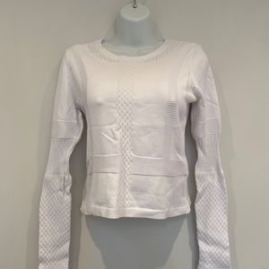 White Fitted Crop Sweater